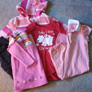 Lot of baby girl clothes 6-9 months